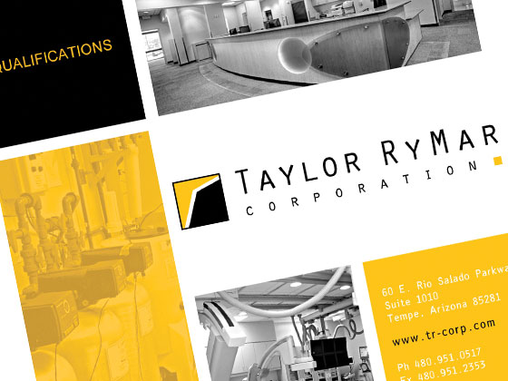 Taylor Rymar Corporate Identity - Qualifications Packet, Ad Design, Brochures, Web Page Design