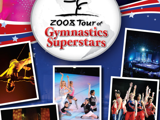 Tour of Gymnasitcs Superstars - Event Program, Online Advertising, Event Poster