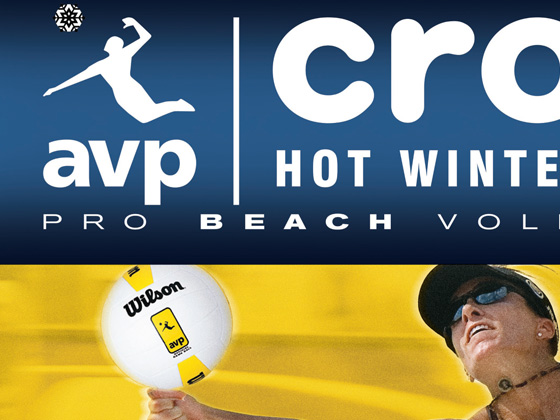 AVP / Crocs Pro Beach Volleyball Tour - Newspaper Advertising, Venue Poster, Venue Coupon