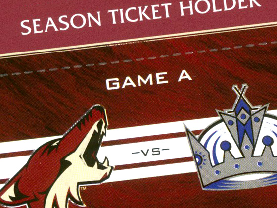 Phoenix Coyotes - Season Tickets Packet Design