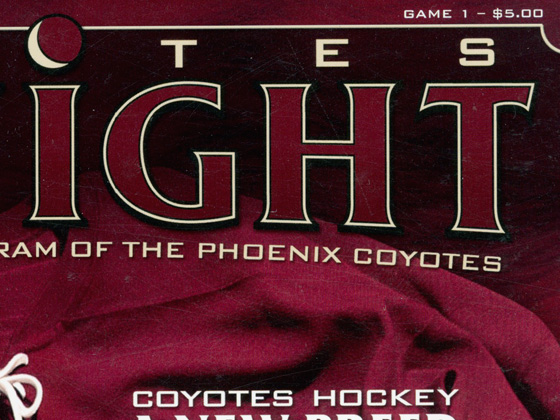 Phoenix Coyotes - Coyotes Tonight Game Program Design